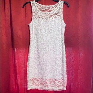 Juniors lace dress. Size Medium